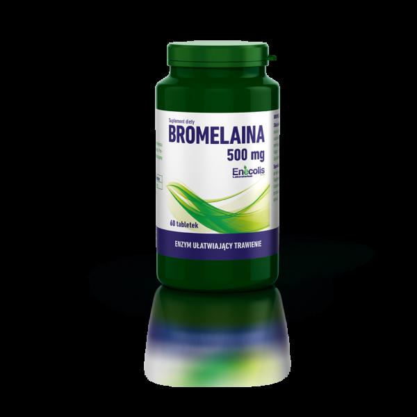 Enecolis Bromelaina 500mg 60 tabletek - Zdjęcie 1